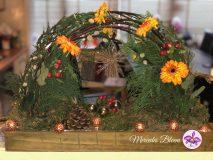 Bloemenbrug met gerbera's