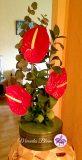 Ikebana met Rode Calla's
